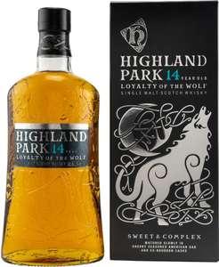 Whisky Deals #109: Highland Park 14 Jahre Loyalty of the Wolf Highland Single Malt Scotch Whisky 42,3% vol. (1 l) für 35,77€ inkl. Versand