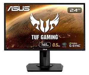 ASUS VG248QG 60,96 cm (24 Zoll) Gaming Monitor (Full HD, G-Sync Compatible, DVI, HDMI, DisplayPort, 0,5ms Reaktionszeit, bis zu 165Hz) black