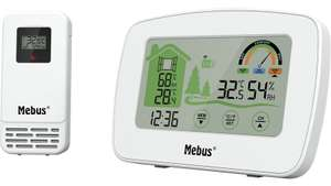 Mebus Funk-Wetterstation (11037 / 11038) mit Außensensor, Farbdispay und Touch-Funktion