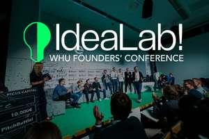40% Rabatt auf alle Tickets für IdeaLab! - WHU Founders' Conference