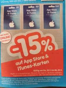 ITunes - Karten 15% Rabatt / Interspar Österreich