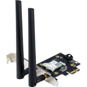 ASUS WLAN-Adapter PCE-AX3000 BT5.0 (Wi-Fi 6 Adapter, Bluetooth 5.0, Dual Band, 802.11ax, MU-MIMO)