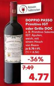 [Kaufland, 23.09. bundesweit] Doppio Passo Primitivo Rotwein oder Grillo DOC 0,75l