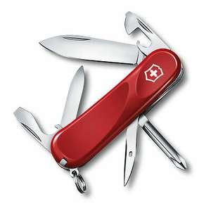 Victorinox Taschenmesser Evolution 11 (13 Funktionen, Klinge, Schraubendreher, Nagelfeile, rot/schwarz)