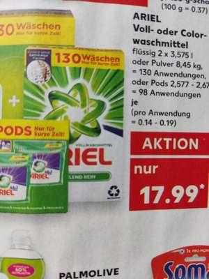 Ariel Pods 98 Stück lokal bei [Kaufland] für 17,99 entspricht 0,19€ pro Waschladung