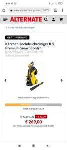 KärcherHochdruckreiniger K 5 Premium Smart Control mit Multijet Aufsatz