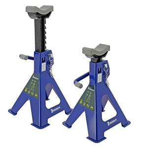 1 Paar Michelin 92417/009557 Unterstellbock Set, 2000 kg Tragfähigkeit, blau, mit Sicherungspin (Prime)