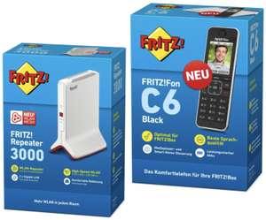 AVM FRITZ!Fon C6 DECT-Telefon weiß für 55,25€ / AVM 3000 Repeater für 99,45€ inkl. Versandkosten
