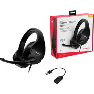 HyperX Cloud Stinger S - kabelgebundenes Over-Ear Gaming-Headset inkl. USB-Adapter
