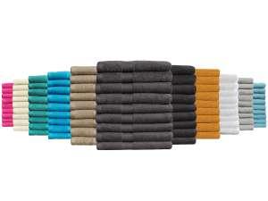 9x Seashell Handtuch Hotel Collection (50 x 100 cm, 100% Baumwolle, 500 g/m², 10 Farben verfügbar)