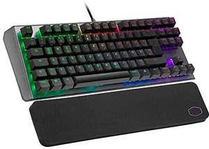 Cooler Master Gaming-Tastatur CK530 V2 (Mechanisch, Red Switches, QWERTZ, Handgelenkauflage, Alu-Oberfläche, On-the-Fly-Programmierung)