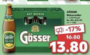 [Kaufland] Kiste Gösser Naturradler 20x0.5l für 13.80€ zzgl. 3.10€ Pfand