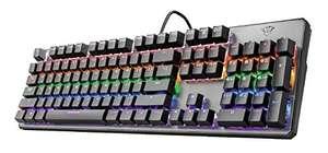 Trust GXT 865 Asta Mechanische Tastatur (QWERTZ, Deutsches Layout, Multi Color Beleuchtung) schwarz