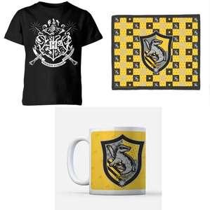 Harry Potter Bundle: Kinder T-Shirt (3 - 12 Jahre), Tasse und Decke (je verschiedene Motive)