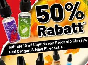 Riccardo mit 50% auf alle Classic/Red Dragon & New Firecastle Liquids