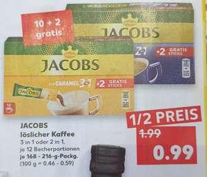 [ Kaufland ] Jacobs löslicher Kaffee Sticks 10+2 versch. Sorten