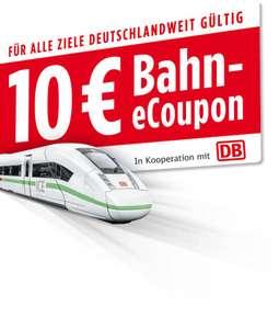 10 Euro Bahn eCoupon (ab einem Fahrpreis von 29,90€)