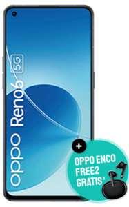O2 Netz: OPPO Reno6 5G 8/128GB + Oppo Enco Free 2 im Blue All-in M Allnet/SMS Flat 12GB für 19,99€ monatlich, 79€ einmalig