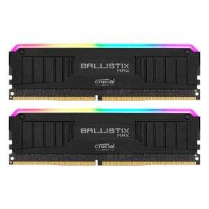 Crucial Ballistix Arbeitsspeicher | 32GB DDR4-4000 CL18 | RGB Max Schwarz [BLM2K16G40C18U4BL]