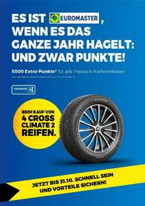 Beim Kauf von 4x Michelin Reifen CrossClimate 2 bei Euromaster gibt es 5000 Extra-Payback-Punkte