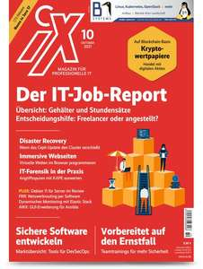 3x iX inkl. IT-Job-Report 2021 + Geschenk (z.B. 10€ Amazon GS) + Sonderheft [auch digital]