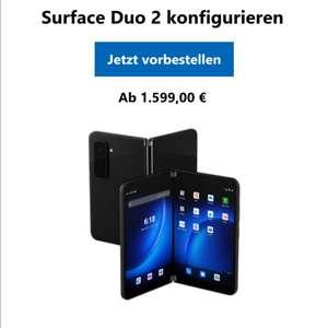 MICROSOFT Surface Duo 2, Convertible mit 8,3 Zoll Display, 8 GB RAM, 128 GB SSD, Obsidian vorbestellbar mit Newsletteranmeldecode