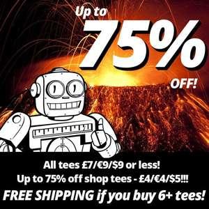 [Qwertee] Bis zu 75% auf Shirts. Preise ab 4€/Shirt, max. 9€/Shirt. Ab 6 Shirts ohne Versandkosten