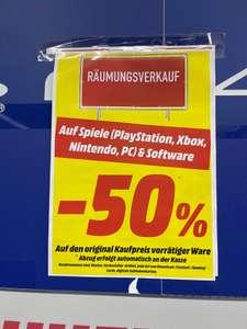 Lokal - 50 % Auf alle Spiele und Software im Media Markt Köln Chorweiler