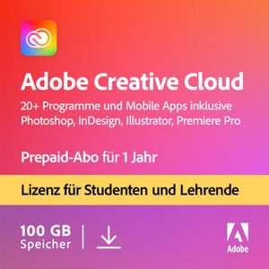 [NBB Black Week] Adobe Creative Cloud 1 Jahres Lizenz für Studierende & Lehrende