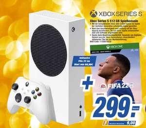 [Regional HEM Expert ab 29.09] Microsoft Xbox Series S (512GB) + FIFA 22 für 299,-€