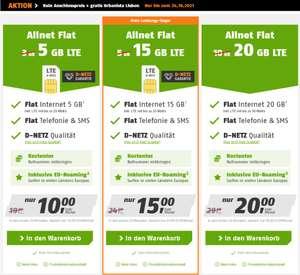 15GB LTE für 15€ mtl., Klarmobil Allnet-Flat (Telekom-Netz) + keine Anschlussgebühr + Urbanista Lisbon Kopfhörer GRATIS