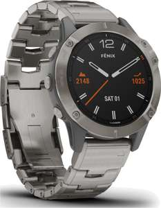 "Garmin Fenix 6 Sapphire Titanium Smartwatch (1.3"" Display, GPS, NFC, ANT+, BT)"