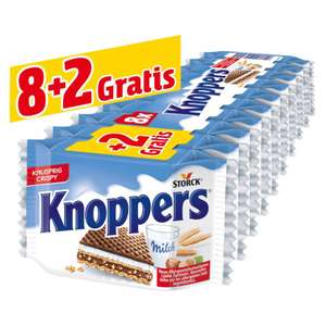Penny ab 27.9: 10x Knoppers gegenüber dem üblichen 8er Pack im Angebot, Einzelpreis: je Knoppers 15 Cent