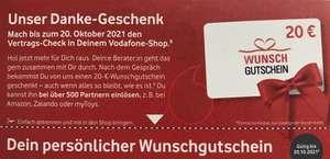 [Vodafone Internet] [personalisiert] [Bestandskunden] [Aufwand] 20€-Gutschein z.B. für Amazon durch unverbindlichen Vertragscheck