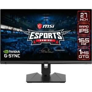 "MSI Optix MAG274QRFDE-QD 27"" Gaming-Monitor WQHD (2560x1140, 165Hz, IPS) + 20$ Steamguthaben"
