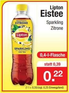 Lipton Eistee Sparkling Zitrone, 0,4 Liter für 22 Cent [Zimmermann]