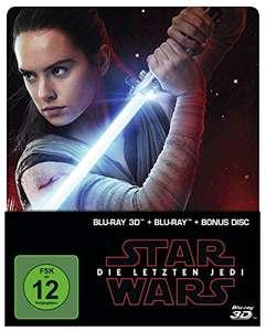 Star Wars: Die letzten Jedi 3D Limited Steelbook Edition (3D Blu-ray + Blu-ray + Bonus Blu-ray) für 13,94€ (Amazon Prime)