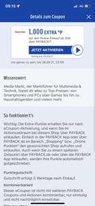[PAYPACK] Media Markt: 1000 Punkte bei Online Einkauf ab 30€ (Personalisiert)