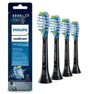 Philips Sonicare Original Aufsteckbürste Premium Plaque Defence HX9044/33, 4er Pack, Standard, Schwarz