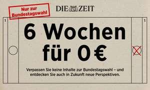 Die ZEIT 6 Wochen für 0€