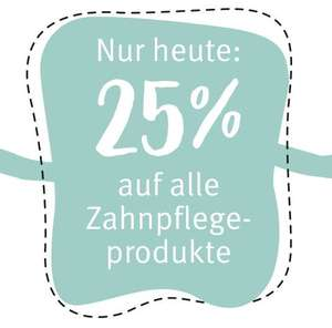 25% auf alle Zahnpflegeprodukte (Rossmann online)