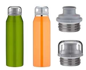 -64% 2in1: alfi Premium Isoliertrinkflasche 500ml, isoBottle,, edelstahl, auslaufsicher, 12 Stunden heiß, 24 Stunden kalt