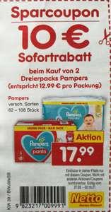 [Netto MD] 2x Pampers Dreierpack um 10 Euro reduziert