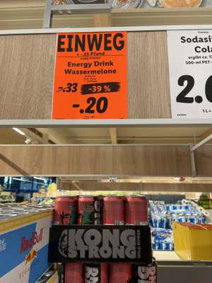 Lidl Bramsche LOKAL : Kong Strong Energy Drink - Wassermelone