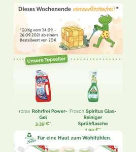 Versandkostenfrei ab 20 Euro Einkauf im Froschladen