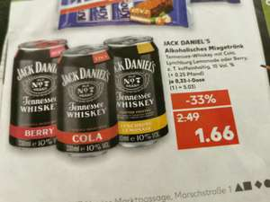 [Kaufland] Jack Daniel's Cola, Lynchburg Lemonade oder Berry