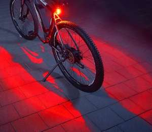 [MM/Saturn Abholung] Fischer 360° Twin-Fahrrad-Rücklicht mit Lithium-Ionen-Akku, StVZO-konform