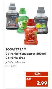 [Kaufland ab 07.10] SODASTREAM Getränke-Konzentrat 500 ml Getränkesirup in verschiedenen Sorten für je 2,99€