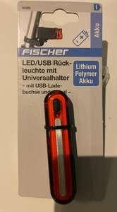 FISCHER LED Akku 50089 Schwarz FAHRRADRÜCKLICHT , MediaMarkt , Saturn / Abholung * StVZO zugelassen ebike