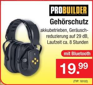ProBuilder Gehörschutz mit Geräuschreduktion auf 29dB inkl. Bluetooth Headset mit Akku für 8h Laufzeit [ZIMMERMANN FILIALEN]